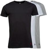 U.S. Polo Assn. Mens Three Pack T-Shirt White/Grey/Black