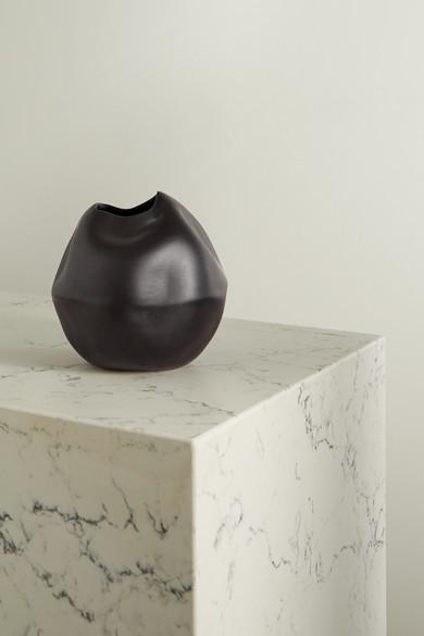 COMPLETEDWORKS + Ekaterina Bazhenova Yamasaki Banned Book No. 2 Ceramic Vase - Black