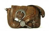 Christian Dior very good (VG Brown Leather Saddle Shoulder Bag