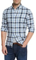 Brunello Cucinelli Plaid Leisure-Fit Sport Shirt, Blue