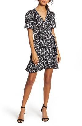 1 STATE Romantic Vines Wrap Dress