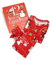 "Toddler's & Little Girl's Three-Piece ""12 Days of Christmas"" Pajamas & Book Set"