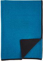 Barneys New York Knit Cashmere Throw-BLUE