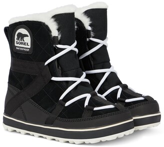 Sorel Glacy Explorer Shortie suede boots