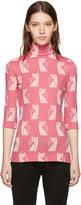 Miu Miu Pink Cat Motif Sweater