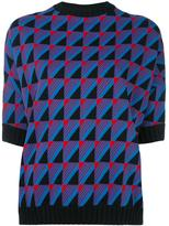 Marni geometric pattern knit top