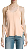 Opening Ceremony Stretch Crepe Racerback Tank, Peach