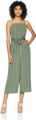 The Fifth Label Women's Axial Stripe Sleeveless Jumpsuit with Tie at Waist