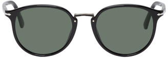 Persol Black and Green PO3210S Typewriter Edition Sunglasses
