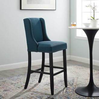 """Andover Mills Gabilan Bar & Counter Stool Seat Height: Bar Stool (30.5"""" Seat Height), Color: Azure"""
