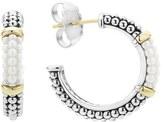 Lagos Women's 'Black & White Caviar' Hoop Earrings