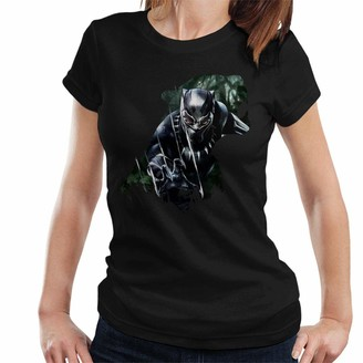 Marvel Black Panther Roaring Silhouette Women's T-Shirt