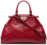 Gucci Red medium leather bowling bag