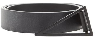Bottega Veneta Triangle-buckle Leather Belt - Black
