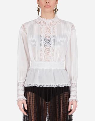 Dolce & Gabbana Muslin And Lace Blouse