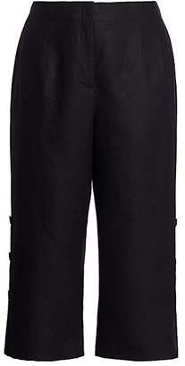Lafayette 148 New York, Plus Size Downing Side Button Pants