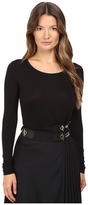 Versace Long Sleeve Side Chain Top Women's Clothing