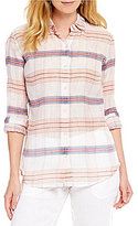 Tommy Bahama Costas Plaid Long Sleeve Button Front Shirt