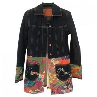 Evisu Blue Denim - Jeans Jacket for Women
