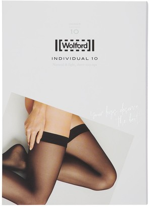 Wolford Individual 10 Denier Stay-Up Thigh Highs