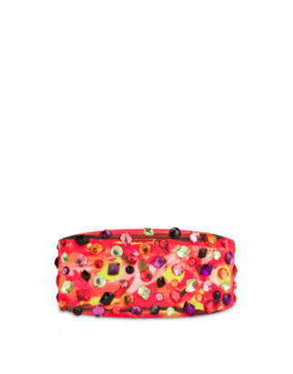 Moschino Scuba Belt With Stones Woman Red Size 38 It - (4 Us)