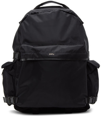 Juun.J Black Nylon Multi-Pocket Backpack