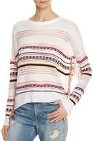 Aqua Neon Striped Fringe Sweater - 100% Exclusive