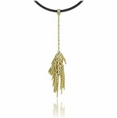 Orlando Orlandini Flirt - 18K Gold Drop Pendant w/Diamond