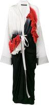 Haider Ackermann smocked kimono dress - women - Silk - 36