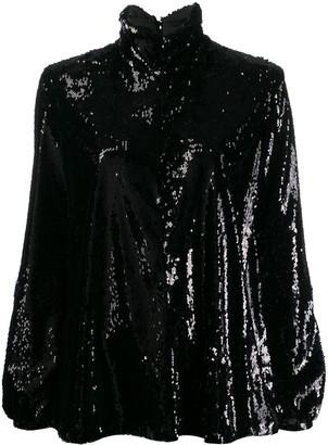 Racil sequin roll neck top