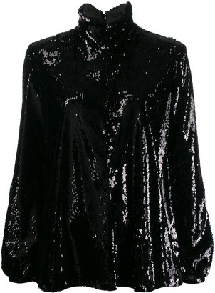 Racil Sequin Roll Neck Top