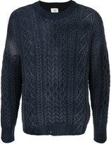 Kent & Curwen drop stitch cable knit sweater