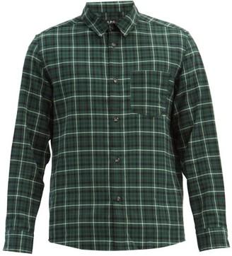 A.P.C. John Checked Cotton-flannel Shirt - Black Multi