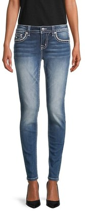 Miss Me Hailey Embroidered Skinny Jeans