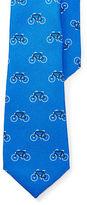 Ralph Lauren Bicycle-Print Silk Twill Tie