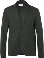 Folk Black Tech Cotton-Blend Blazer