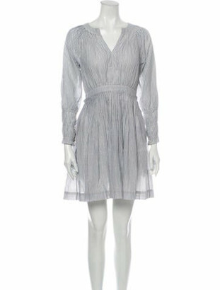Ulla Johnson Striped Mini Dress Grey