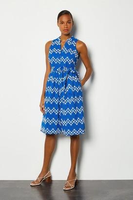 Karen Millen Blueprint Sleeveless Midi Dress