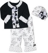 Baby Essentials 3-Pc. Hat, Top & Leggings Set, Baby Girls (0-24 months)