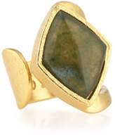 Stephanie Kantis Luxe Moss Agate Rhombus Ring