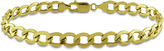 Ice 10K 7mm Curb Men's Bracelet with Lobster Clasp