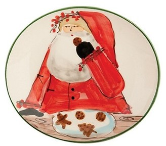 Vietri Old St. Nick Christmas Cookie Plate