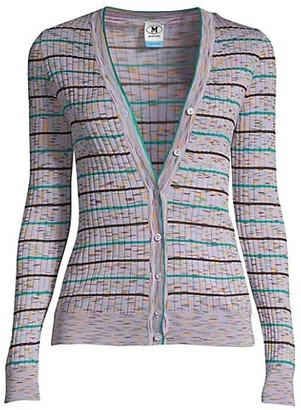 M Missoni Heathered Stripe Cardigan
