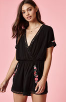 KENDALL + KYLIE Kendall & Kylie Short Sleeve Embroidered Romper