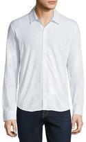 Zachary Prell Cotton Long-Sleeve Sport Shirt, White