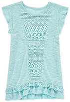 Arizona Short Sleeve Crochet Tunic Top - Girls' 4-16 & Plus