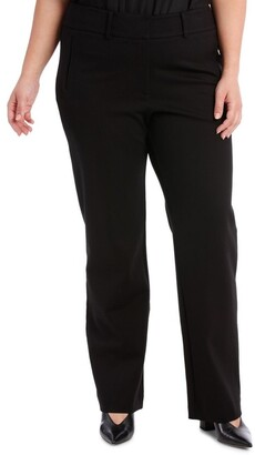 Basque Ponte Straight Leg Pant
