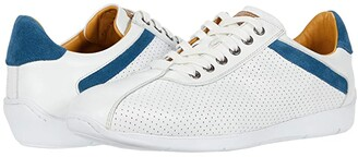 Mezlan Kalem (White/Blue) Men's Shoes