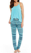 Josie Geometric Striped Jersey Pajamas