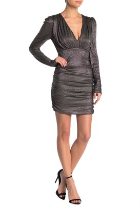 Do & Be Ruched Metallic Dress